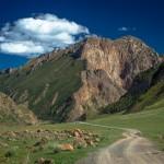 mountain road kyrgyzstan