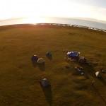song kol lake aerial shot
